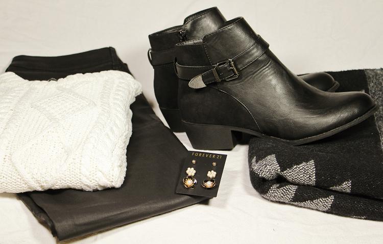 tenue classique noir et blanc