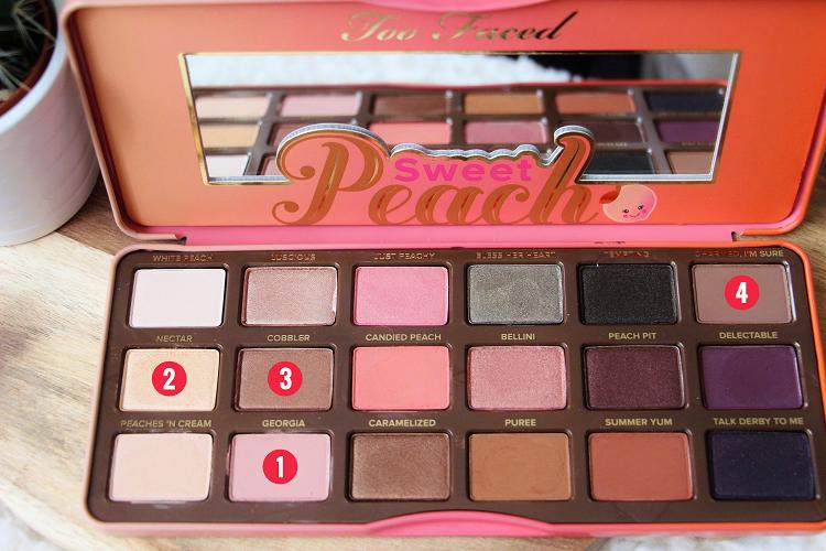 Palette Sweet Peach tuto