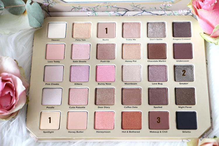 Palette Natural Love Too Faced Fards