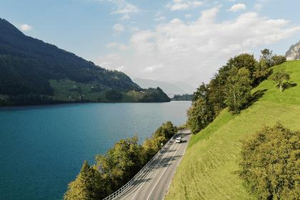 Sur les routes suisses