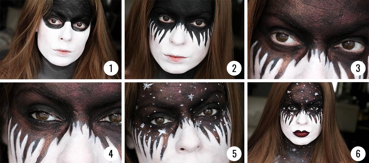 Tutoriel Makeup Halloween Galaxie Etoiles